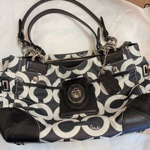 Coach Purse Peyton Op Art Signature